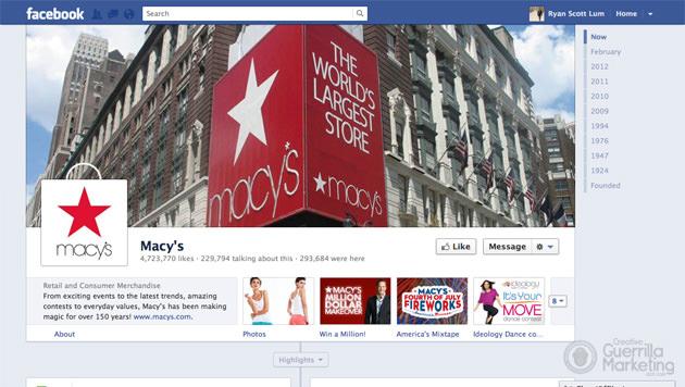 Macys Facebook Timeline