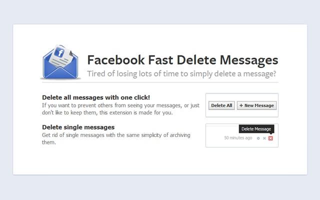 Xóa tất cả tin nhắn trên Facebook với 1 cú click