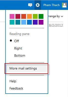 Cài đặt Outlook