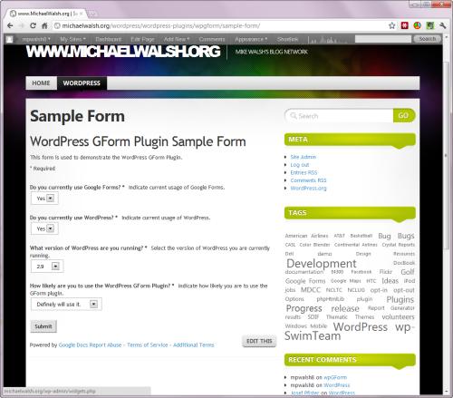 Chèn Google Form vào blog WordPress bằng CSS và HTML