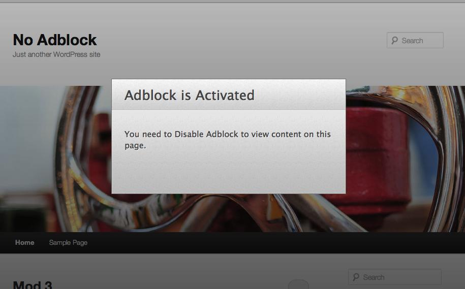 Bắt buộc người dùng tắt Adblock