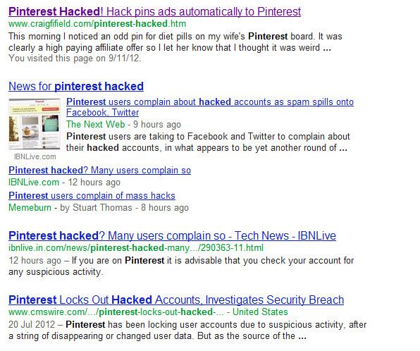 Tài khoản Pinterest của bạn đã có thể bị hack!