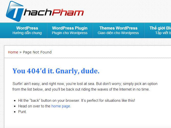 Trang 404 của cddos Blog