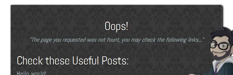 Custom 404 Error Page Plugin