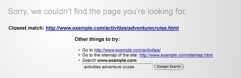 Google 404 Plugin