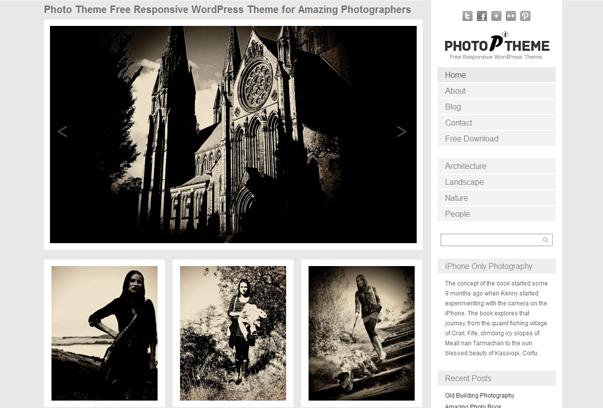 Theme đơn giản dành cho các Photographer